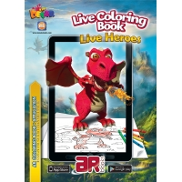 Live Heroes. 3D Coloring Book