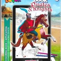 Pirats & Knights. 3D Coloring Book