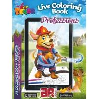 Professions. 3D Coloring Book