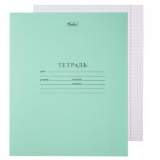 Тетрадь школьная, 12 листов, клетка (зеленая)